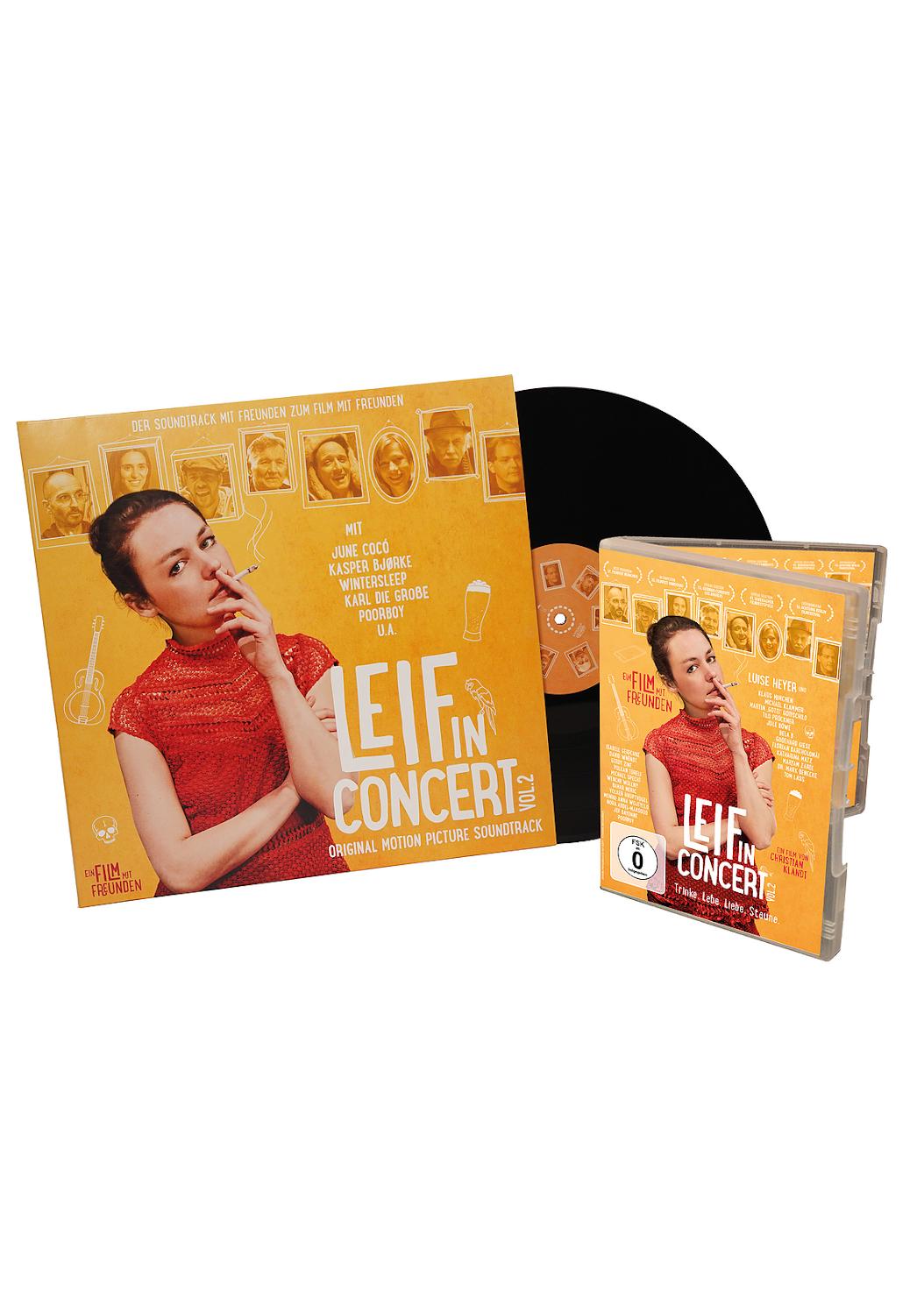 limitiertes 'Leif in Concert - Vol. 2' Paket - mit DVD und Soundtrack auf Doppel-LP
